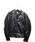 Deluxe(デラックス)の古着「ダブルライダースジャケット」|ブラック