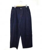 bulle de savon(ビュル デ サボン)の古着「太ストレートパンツ」|ブルー