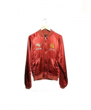 Hysteric Glamour(ヒステリックグラマー)の古着「PARADISE刺繍スカジャン ジャケット」|レッド