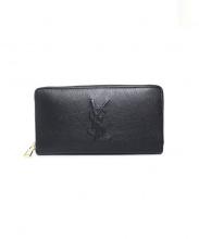 Yves Saint Laurent(イブサンローラン)の古着「ラウンドジップウォレット 財布」|ブラック