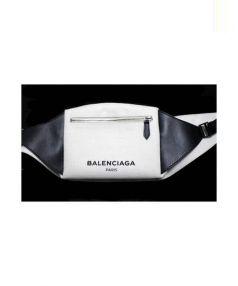 BALENCIAGA(バレンシアガ)の古着「キャンバスウエストバッグ」|ホワイト×ブラック