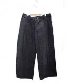 77circa(ナナナナサーカ)の古着「リメイクデニムパンツ」|ブラック