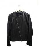 DOMENICO+SAVIO(ドオメニコアンドサヴィオ)の古着「ノーカラーレザージャケット」|ブラック