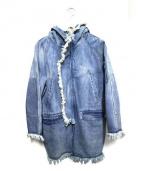 C2H4(シーツーエイチフォー)の古着「デニムパーカージャケット」|ブルー
