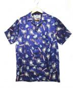 Birvin Uniform(バービンユニフォーム)の古着「オープンカラーシャツ」|ブルー