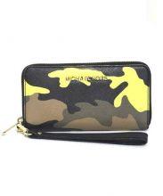 MICHAEL KORS(マイケルコース)の古着「ラウンドファスナー財布」 オリーブ
