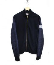 MONCLER GAMME BLUE(モンクレール ガム ブルー)の古着「スリーブ切替ジップブルゾン」|ネイビー
