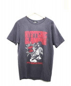 Hysteric Glamour(ヒステリックグラマー)の古着「BORN TO LOSE pt T-SH Tシャツ」|グレー