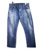 VISVIM(ビズビム)の古着「SOCIAL SCULPTURE 01 SLIM DAMAG」 ブルー