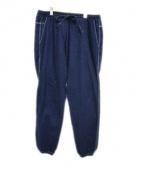 Needles(ニードルス)の古着「ワイドデニムパンツ」|ブルー