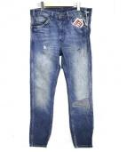 LEVI'S VINTAGE CLOTHING(リーバイス ビンテージ クロージング)の古着「リペア加工デニムパンツ」|ブルー