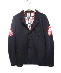 Mastermind JAPAN(マスターマインドジャパン)の古着「ジャージーテーラードジャケット」 ブラック