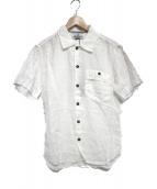 STONE ISLAND(ストーンアイランド)の古着「半袖リネンシャツ シャツ トップス」|ホワイト