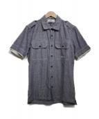 STONE ISLAND(ストーンアイランド)の古着「半袖リネン混シャツ」|ブルー