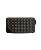 BALLY(バリー)の古着「ラウンドファスナー財布」|グレー