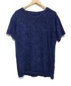 The Elder Statesman(ザエルダーステイツマン)の古着「後染めVネックTシャツ カットソー」|ネイビー