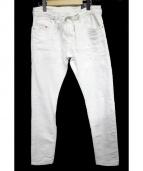 DIESEL(ディーゼル)の古着「ジョグデニムパンツ」|ホワイト