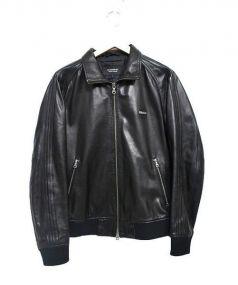 BURBERRY BLACK LABEL(バーバリーブラックレーベル)の古着「レザージャケット」|ブラック