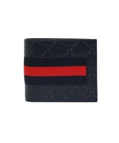 GUCCI(グッチ)の古着「2つ折り財布」|ネイビー