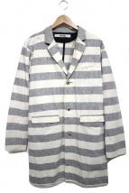 FACTOTUM(ファクトタム)の古着「綿麻ダンガリーショップコート」 アイボリー×グレー