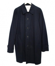 COMME des GARCONS HOMME(コムデギャルソンオム)の古着「ステンカラーコート」|ネイビー