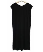 PEELSLOWLY(ピールスローリー)の古着「ノースリーブワンピース ワンピース」|ブラック