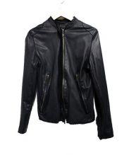 sisii(シシ)の古着「レザーシングルライダースジャケット」|ブラック
