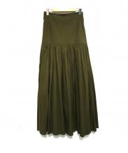 CLANE(クラネ)の古着「GATHER MAXI SKIRT スカート」|カーキ