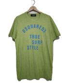 DSQUARED2(ディースクエアード)の古着「ロゴTシャツ トップス」|黄緑