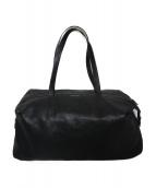 DRIES VAN NOTEN(ドリスヴァンノッテン)の古着「レザーボストンバッグ バッグ」|ブラック