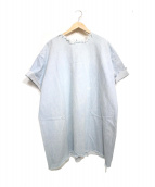 ASHLEY ROWE(アシュリーロウ)の古着「カットオフS/Sデニムワンピース ワンピース」|ブルー