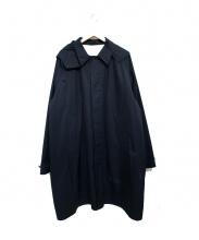 BEAMS(ビームス)の古着「イージーフィットステンカラーコート」|ネイビー