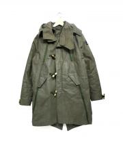 DENHAM(デンハム)の古着「HVANNA PARKA RE-CUT DHDR ジャケット」|カーキ