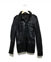 sisii(シシ)の古着「レザージャケット」|ブラック