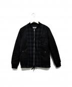 DISCOVERED(ディスカバード)の古着「SUIT LAYERD MA-1 ジャケット」|ブラック
