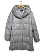 LAUTRE AMONT(ロートレアモン)の古着「ショールカラーダウンコート  コート」|グレー