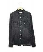REMI RELIEF(レミレリーフ)の古着「デニムウエスタンシャツ」