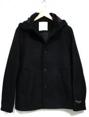 EDIFICE(エディフィス)の古着「メルトンフーデッドジャケット」