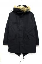 HOUSTON(ヒューストン)の古着「ライナー付モッズコート」|ブラック