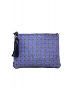 SERAPIAN(セラピアン)の古着「クラッチバッグ バッグ」|ブルー