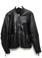 freedom(フリーダム)の古着「ステアハイドレザージャケット」 ブラック