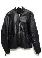 FREEDOM(フリーダム)の古着「ステアハイドレザージャケット」|ブラック