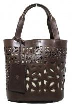 genten(ゲンテン)の古着「マルチカットワークハンドバッグ」