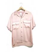 YSTRDY'S TMRRW(イエスタディズ トゥモロウ)の古着「オープンカラーシャツ」 ピンク