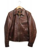 B-McCOYS(ビーマッコイズ)の古着「ステアハイドレザージャケット ジャケット」|ブラウン
