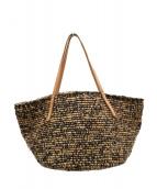 Sans-Arcidet(サンアルシデ)の古着「ラフィアバッグ バッグ」 ベージュ