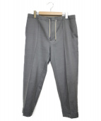 AURALEE(オーラリー)の古着「スーパーファインウールモヘアスラックス パンツ」|グレー