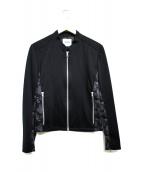 FACTOTUM(ファクトタム)の古着「モックロディジャージライダース」 ブラック