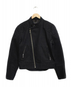 TROPHY CLOTHING(トロフィー クロージング)の古着「デニムライダースジャケット ジャケット」|ブラック