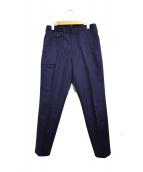 TOMORROW LAND(トゥモローランド)の古着「センタープレスパンツ パンツ」|ネイビー